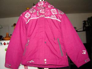 manteau d'hiver et pantalon rose et gris 10 ans