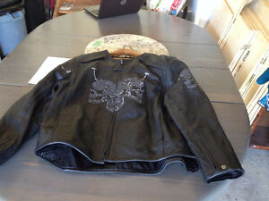 Men's motorcycle jacket with armor