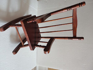 Handmade solid wooden decorative rocking chair for display London Ontario image 1