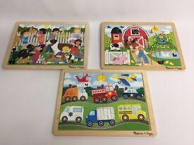 3 x 12 piece wooden jigsaws