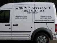 Shrums Appliance Parts and Service