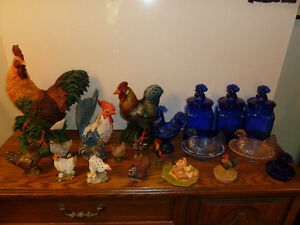 Vintage blue glass and collectibles Peterborough Peterborough Area image 1