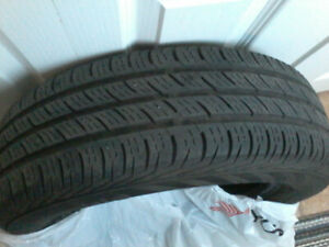 SET OF 4 CONTINENTAL ALL SEASON TIRES  185 65 15
