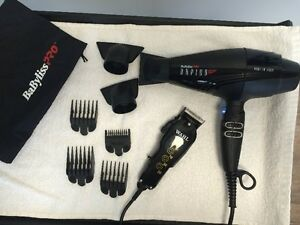 Babyliss Pro Rapido Hair Dryer and clippers