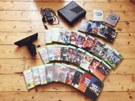 Xbox 360 Slim Bundle, 35 games + Kinect🌟