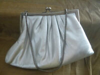 Sac lurex argenté Du Val Silver Lurex Cocktail/Evening Bag