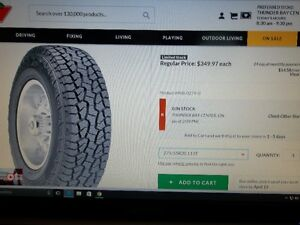 Set of 4 Brand New take off 20 inch tires for truck or SUV