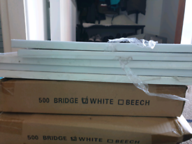 500 wide kitchen bridge unit with white gloss door