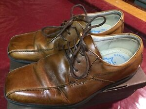 Boys' Dress Shoes-brown leather