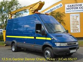 Iveco Daily 65c17 Access platform 13.5m Gardner-Denver x-Lwb High Roof 2006/ 56