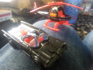 Corgi juniors batmobile and bat copter 1976