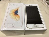 APPLE I PHONE 6S PLUS 128GB** WHITE AND GOLD