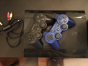 PS3 Slim+ 2 Controllers + 12 Games