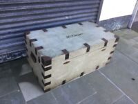 Antique lined trunk