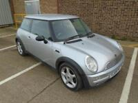 2004 (04) MINI COOPER 1.6 PEPPER PACK SILVER HALF LEATHER