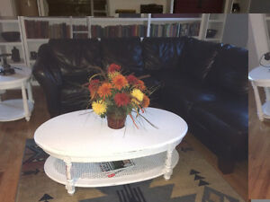 Beautiful White Shabby Chic Wood Coffee Table - Asking $175
