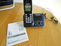Panasonic KX-TG6621E Cordless Phone with Answer Machine, Black