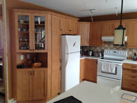 maple oak kitchen cabinets with counter top