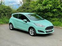 2017 Ford Fiesta 1.0 T EcoBoost Zetec 3dr, Turbo, Petrol, Green, 55k Miles