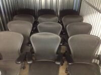 HERMAN MILLER AERON JOB LOT OF 15 CHAIRS
