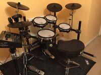 Roland TD12 5 Piece Drum Kit plus many extras