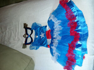 Toddler Girl Captain America Costume