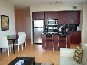 August: Furnished 2 Bed Downtown @ Maple Leaf Sq - High Floor
