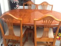 Extending table and xhairs