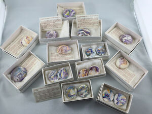 Weathered Stone Jewellery Lot - Handmade with Small White Boxes