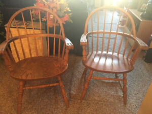 4 solid maple dining room chairs for sale