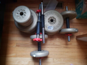 Free weights and dumbells