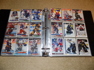 OVER 400 EARLY 90'S VARIOUS NHL HOCKEY GOALIE CARDS WITH BINDER