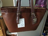 Brown tote purse