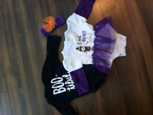 Girls size 3-6 months Halloween outfits