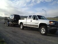 Truck and Trailer for hire.