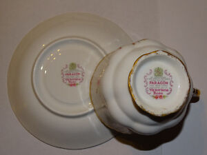 Paragon Victoriana Rose Cup and Saucer, Excellent Condition London Ontario image 3