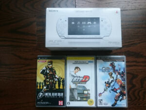 Ceramic White PSP with 3 games