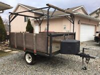 ATV Utility trailer with boat rack