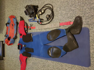 Brooks Dry Suit and Regulators/Guages/Weights for SCUBA diving