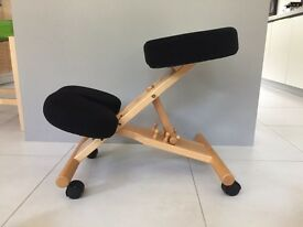 Kneeling chair - encourages posture alignment