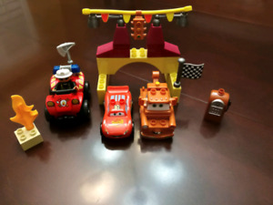 Mega Bloks Disney Cars Set & Lego Duplo Fireman Chief