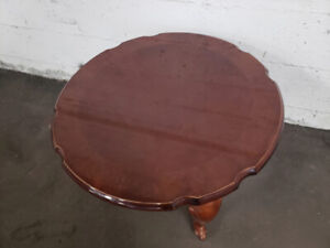 Glossy Round End Table