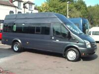 FORD TRANSIT XLWB HIGH ROOF 9 TO 16 SEAT WHEELCHAIR ACCESSIBLE MINIBUS NO VAT