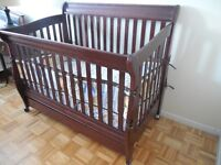 Baby Crib (drawer storage and wheel) real wood