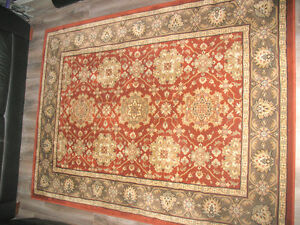 "Red Green Persian rug (approx 5x7"") - llke new 1/2 the cost"
