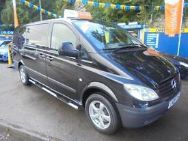 2009 09 MERCEDES VITO 2.1 CDI TRAVELINER 111 LONG AUTO IN BLACK # 9 SEATER #