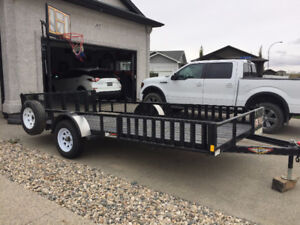 """2016 H&H 83"""" x 14' utility trailer with side load option"""