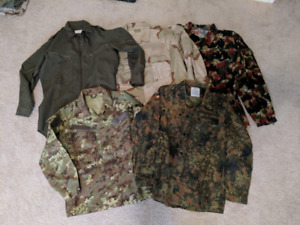 Military Army Shirt Coat NEW NOS S M L XL Camo Airsoft Paintball