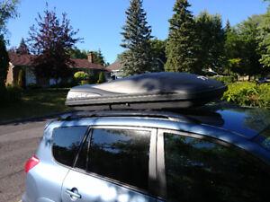 Boîte de toit porte bagages pour véhicule