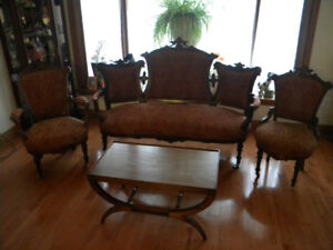 Antique Couch Set with Master and Nursing Chairs